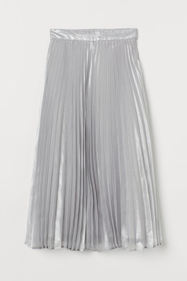H&M Pleated Skirt - Silver