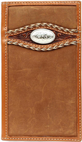 Ariat Medium Brown Rodeo Braided Overlay Leather Wallet