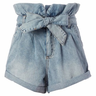 Blank NYC Women's SELF-Belted Short Blue