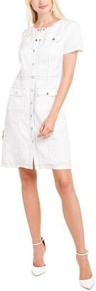 Karl Lagerfeld Paris Snap Linen-Blend Shirtdress