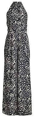 Rebecca Vallance Women's Lola Leopard & Zebra Print Jumpsuit