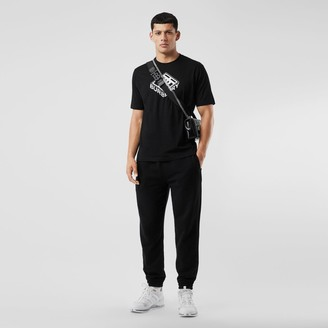 Burberry ogo Appique Cotton Trackpants