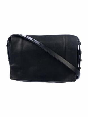 Rick Owens Soft Leather Crossbody Bag Black