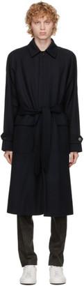 HUGO BOSS Navy Belted Gibor Coat