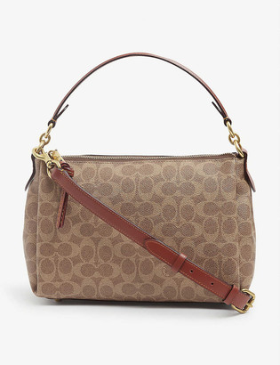 Coach Shay coated-canvas and leather cross-body bag