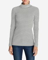 Eddie Bauer Women's Lookout 2x2 Rib Turtleneck - Stripe