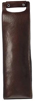 Bosca Vachetta Single Wine Carrier (Dark Brown) Wallet