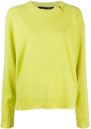 Versace Safety Pin knitted jumper