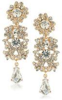 ABS by Allen Schwartz Set In Stone Linear Crystal Chandelier Earrings