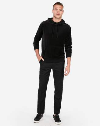 Express Velour Drop Shoulder Popover Hoodie