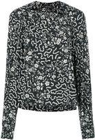 Isabel Marant ioudy floral print top - women - Silk/Spandex/Elastane - 36
