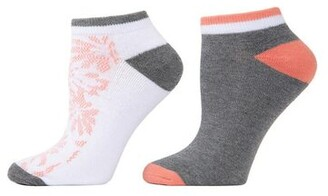 Natori Abstract Floral Socks - 2 Pair Pack