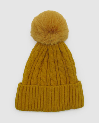 Morgan & Taylor Women's Yellow Beanies - Romy Beanie - Size One Size at The Iconic