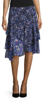 T Tahari Floral Tiered Ruffle Skirt