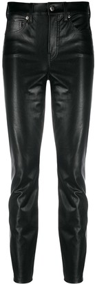 Veronica Beard High Waisted Faux Leather Trousers