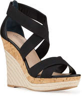 Charles by Charles David Azure Elastic Strappy Wedge Espadrilles