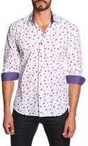 Jared Lang Woven Paisley Print Sportshirt