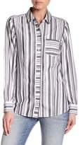 Foxcroft Striped Herringbone Shirt