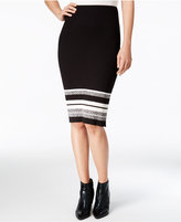 Bar III Striped Pencil Skirt, Only at Macy's