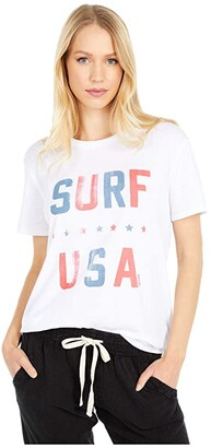 Rip Curl Surf USA Boy Tee (White) Women's Clothing