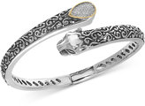 Effy Diamond Pavé Panther Bypass Bracelet (1/6 ct. t.w.) in Sterling Silver and 18k Gold