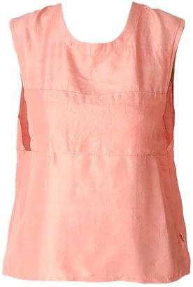 Good Krama Samay Handwoven Silk Top - Peach
