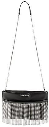 Miu Miu Crystal Fringe Leather Shoulder Bag