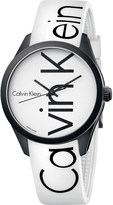 Calvin Klein Color stainless steel and rubber watch