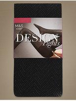 M&S Collection Secret SlimmingTM Chevron Opaque Tights