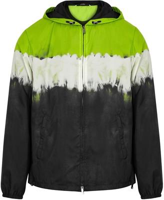 Valentino Tie-dyed hooded nylon jacket
