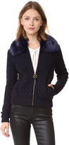 Tory Burch Contraire Knit Bomber Jacket