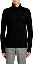 Dolce & Gabbana Men's Melange Cashmere Turtleneck Sweater