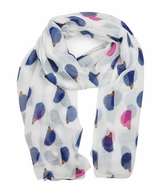 Hedgehog Print Design Lightweight Scarves for Women Large Size Lady Scarf By London Scarfs (Dusty Pink)