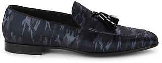 Magnanni Camo Tassel Loafers