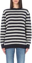 The Elder Statesman Striped cashmere jumper
