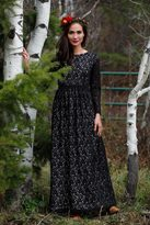 Shabby Apple Frostbite Maxi Black Lace Dress
