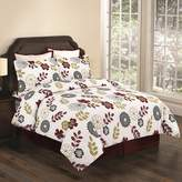 Tribeca Living Flannel Floral 3-pc. Duvet Cover Set