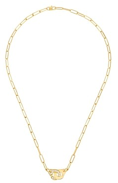 Dinh Van 18K Yellow Gold Menottes Diamond Interlocking Link Necklace, 16.5 - 100% Exclusive