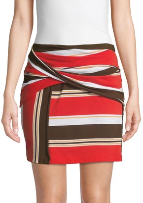 3.1 Phillip Lim Striped Mini Skirt