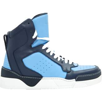 Givenchy Blue Leather Trainers
