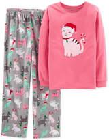 Carter's Little & Big Girls 2-Pc. Holiday Cat Pajama Set