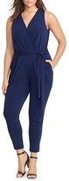 Lauren Ralph Lauren Plus V-Neck Jersey Jumpsuit