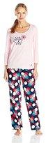 Nautica Sleepwear Women's Two-Piece Flannel Pajama Set