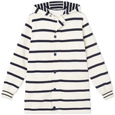 Petit Bateau Womens long hooded cardigan
