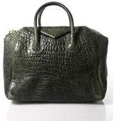 Givenchy Green Leather Gold Tone Double Handle Antigona Handbag RHB26