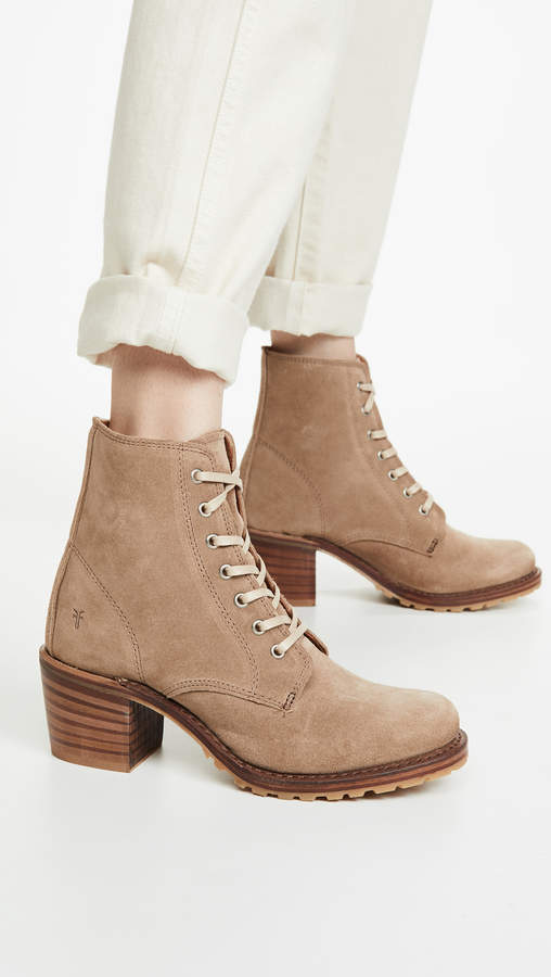 Frye Womens Sabrina 6g Lace Up Ankle Boot