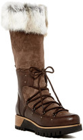 Manas Design Genuine Rabbit Fur Cuff Platform Boot