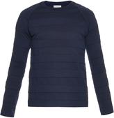 Balenciaga Crew-neck cotton-blend sweater