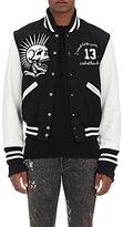R 13 Men's Colorblocked Vintage Varsity Jacket