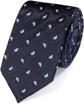 Charles Tyrwhitt Slim Navy Silk Paisley Luxury Tie